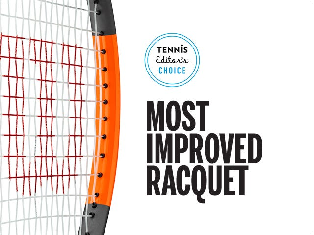 Tennis Magazine's Most Improved Tennis Racket - Burn 100 Countervail