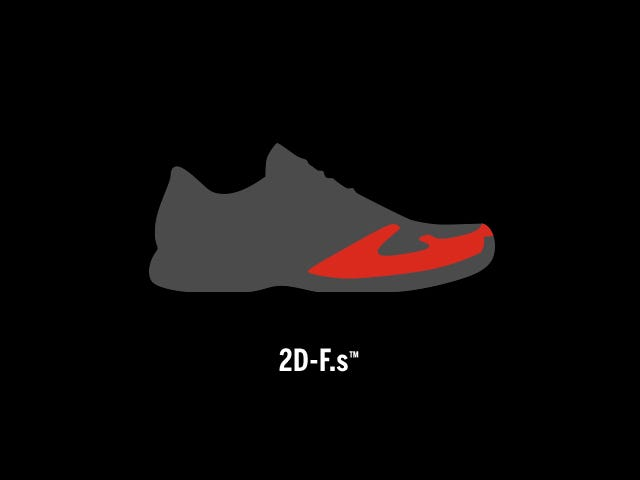 2D-FS Tennis Shoe Technology | Wilson Sporting Goods