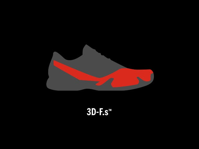 3D-FS Tennis Shoe Technology | Wilson Sporting Goods