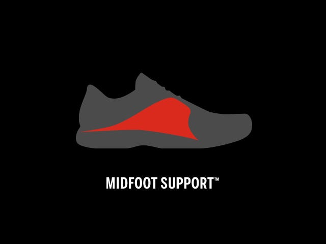Midfoot Support Tennis Shoe Technology | Wilson Sporting Goods