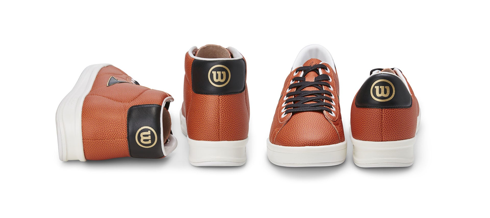 The collection includes a limited edition hi-top and lo-top sneaker crafted  from the orange-grained composite leather used to make the official Wilson  NCAA® ... 6a275a6855