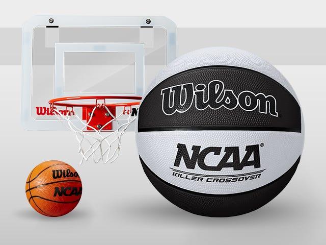 Wilson NCAA Killer Crossover Basketball & Mini Hoop