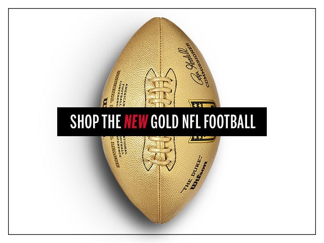 Limited Edition Gold Metallic Duke Football | Wilson Sporting Goods