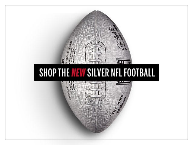Limited Edition Silver Metallic Duke Football | Wilson Sporting Goods