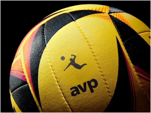 Close up of AVP logo on OPTX ball