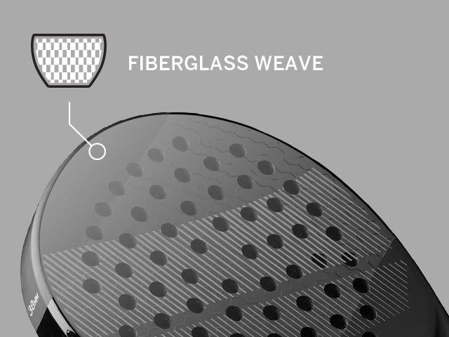 Fiberglass Weave technology in paddle bat face