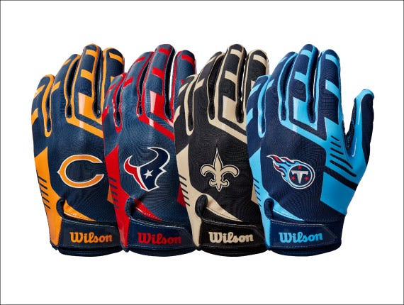 Assortment of NFL team Gloves