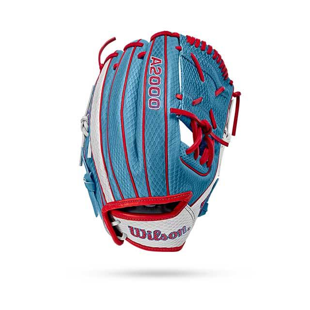 light blue softball mit