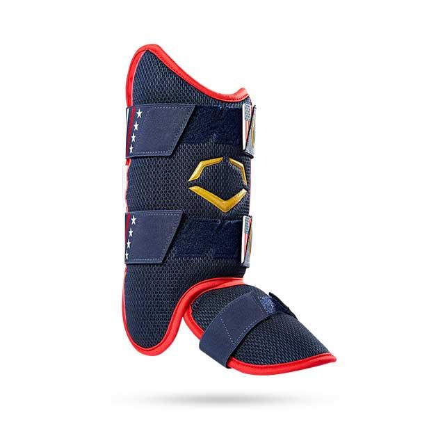 blue softball leg guard