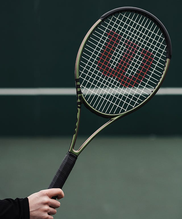 Close up of Blade v8 on tennis court