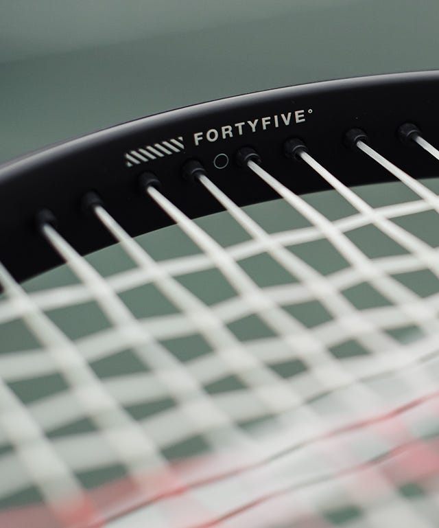 FortyFive technology in blade v8 racquet