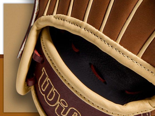 close up of baseball glove