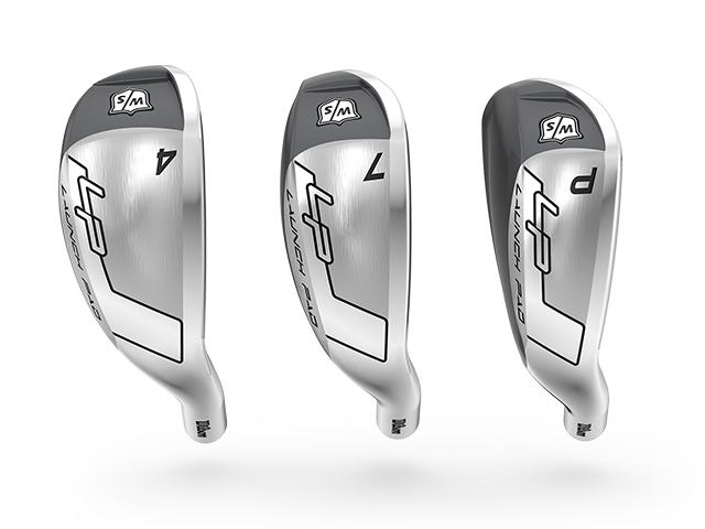 Range of Irons showing club head width