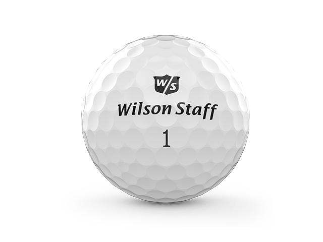 Duo Pro Golfball auf weißem Hintergrund