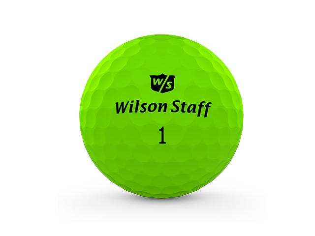 green duo pro golf ball on white background