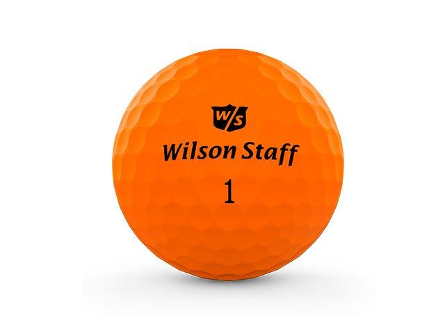orange duo pro golf ball on white background