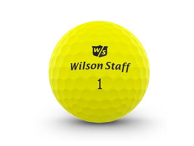 Wilson Staff Duo Pro Yellow Matte Golf Balls | Wilson