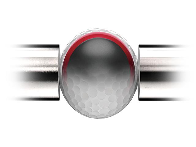 Golfball wird komprimiert