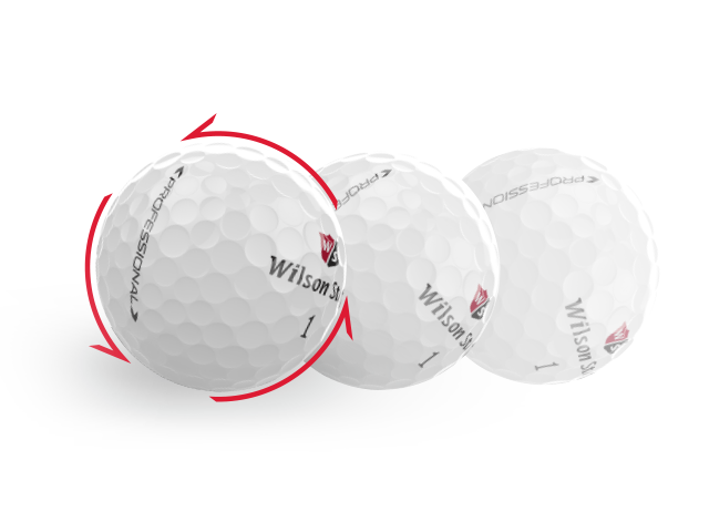 Golfball mit Rotation