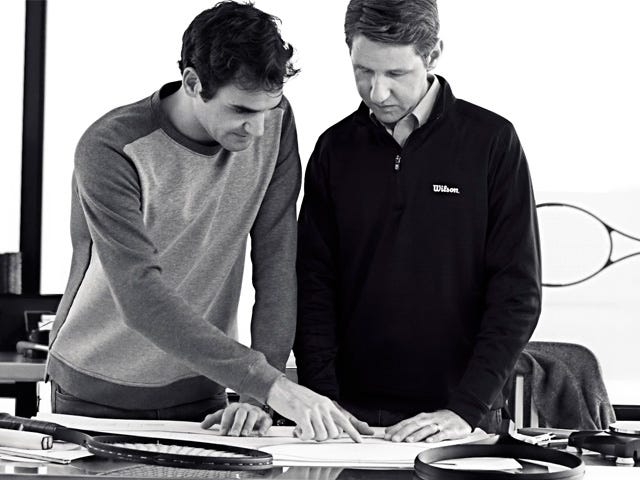 Roger Federer's Wilson Pro Staff Tennis Racket