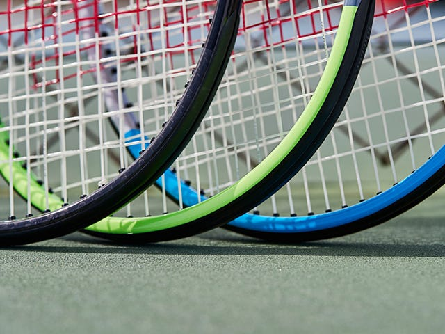 Close up of three pro labs rackets