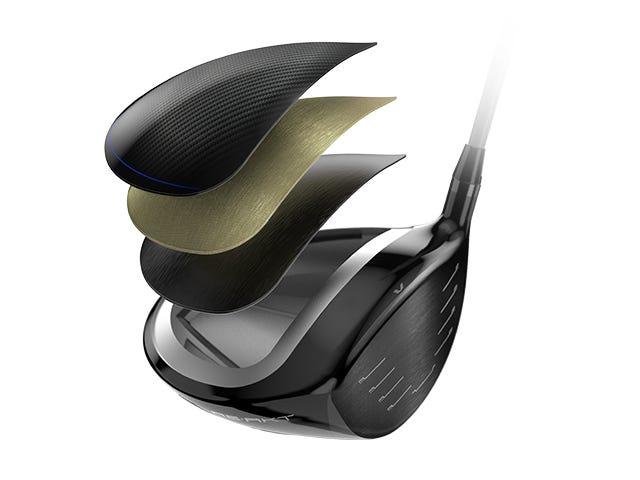 D7 Driver-Kopf in Segmente zerlegt