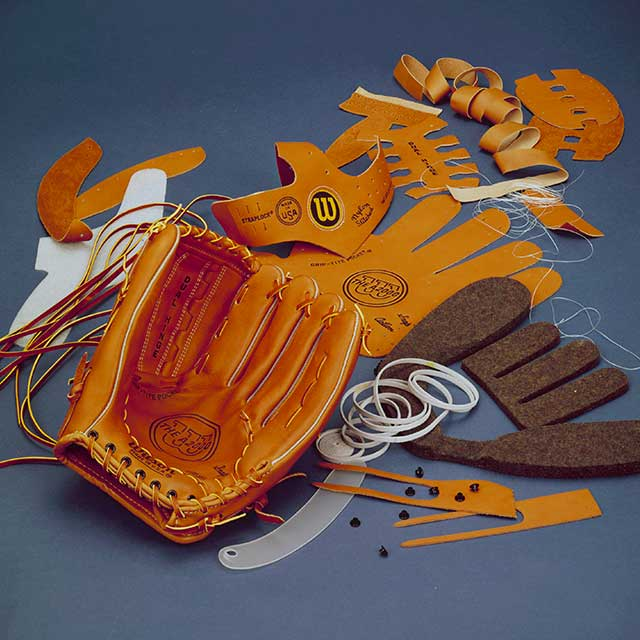 Wilson A2000 baseball glove and the quality materials for its creation