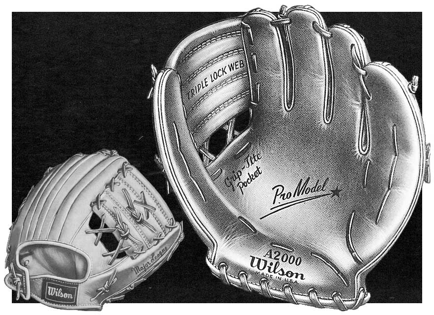 1950's ad with Wilson's A2000 glove model