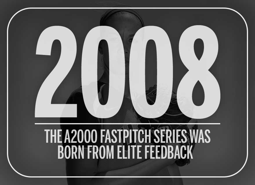 Text over image of Cat Osterman describing how the Wilson A2000 Fastpitch Series was introduced in 2008