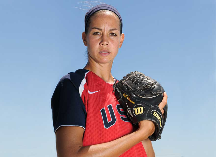 Team USA's Cat Osterman with her Wilson A2000 Fastpitch Glove