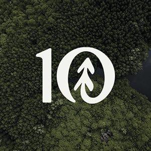 algae photo with the tentree logo in white