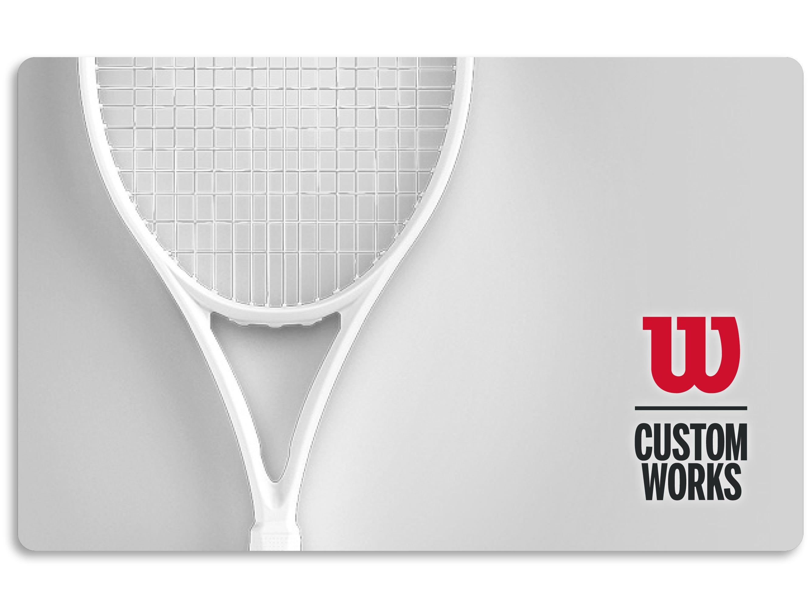 Custom Tennis Racket Gift Card