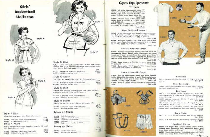 pages from a 1930s Wilson catalog