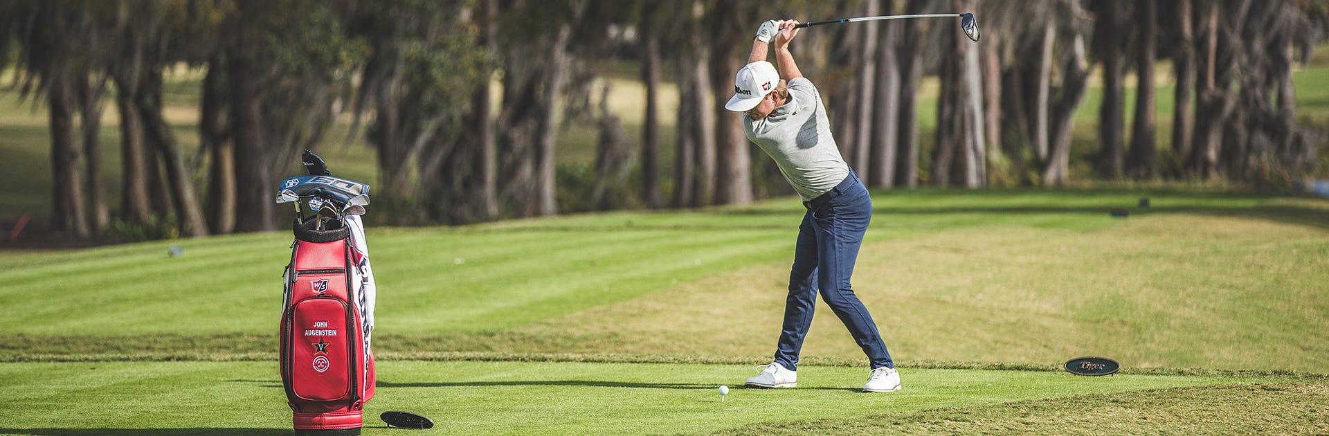 John Augenstein golfing