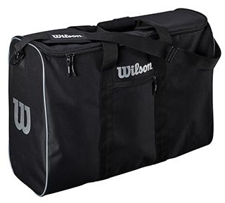 photo of a rectangular travel bag for basketballs