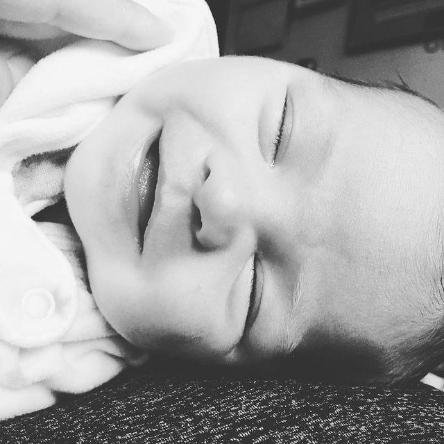 monochrome picture of baby Wilson Dooley-Kim