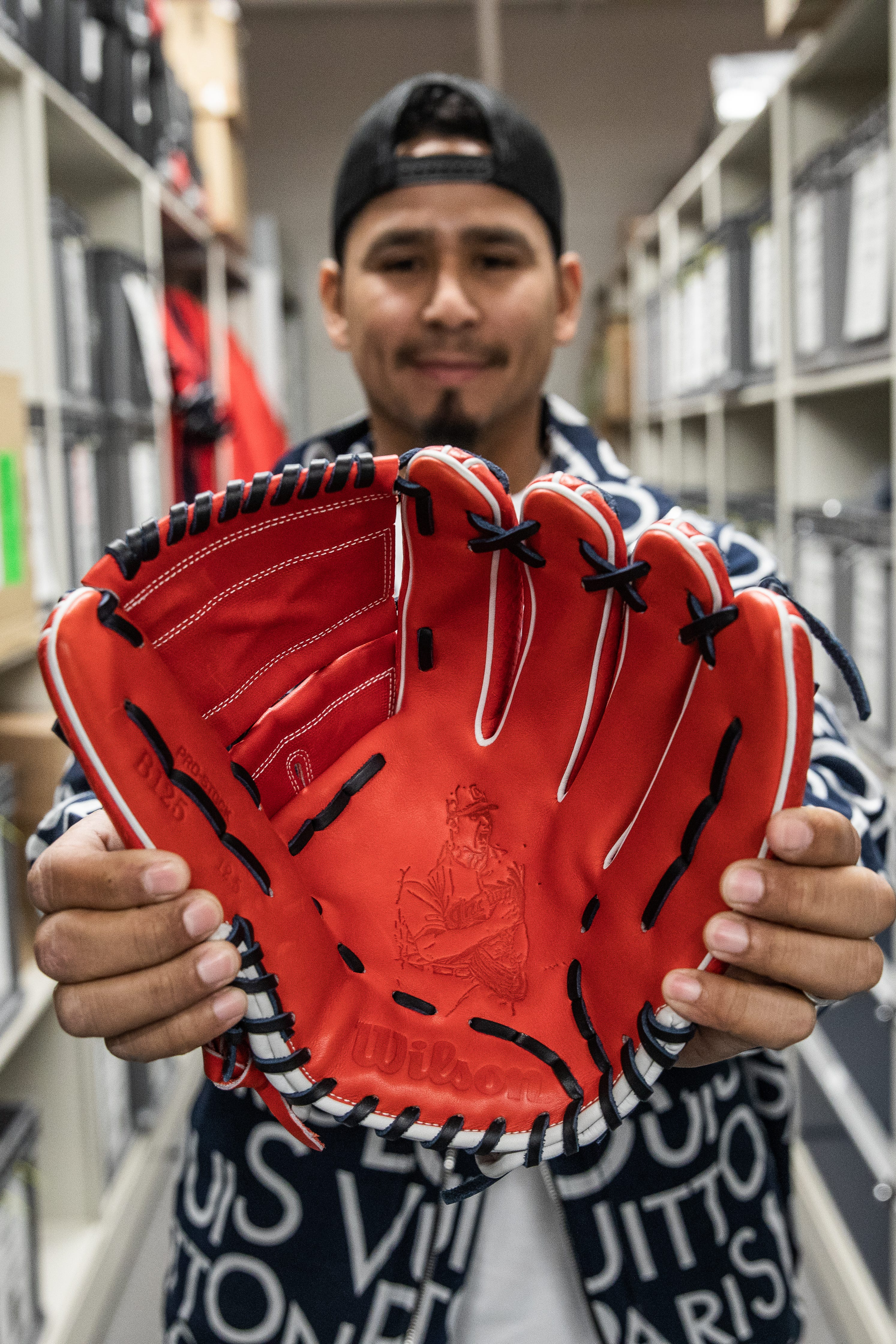 Currasco smiling with glove
