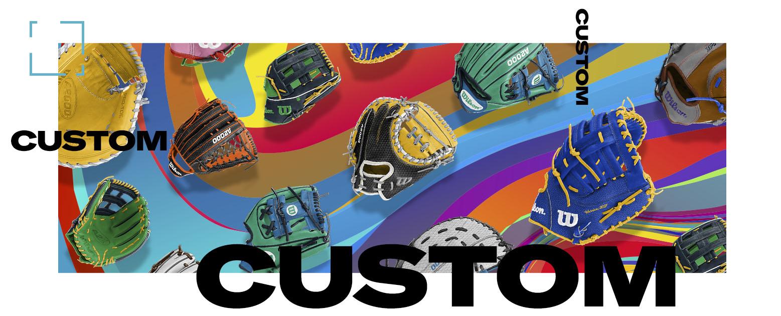montage of custom gloves