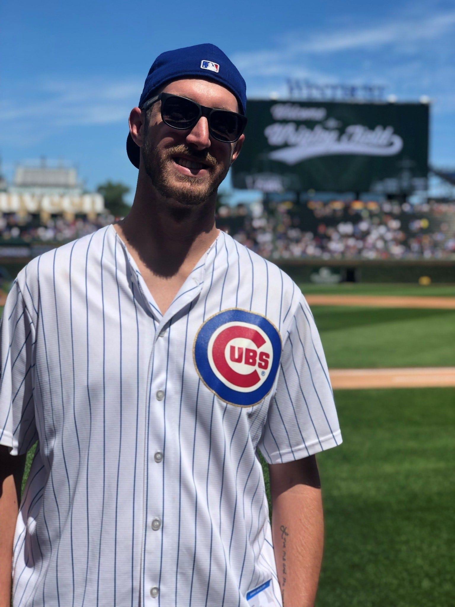 Writer Jake Meisener at a ballpark