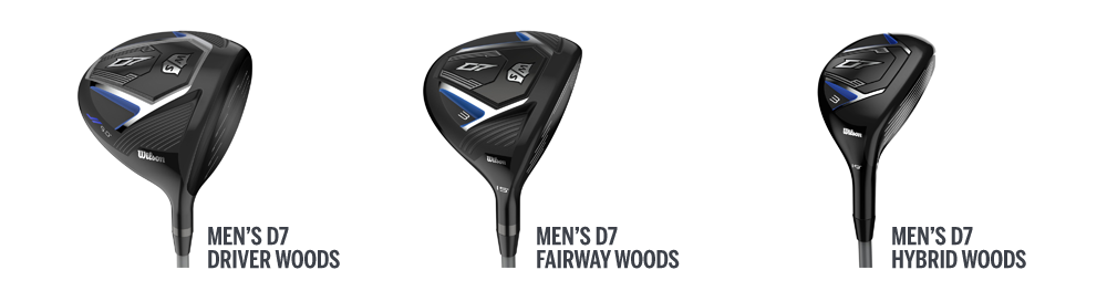 three D7 golf club heads
