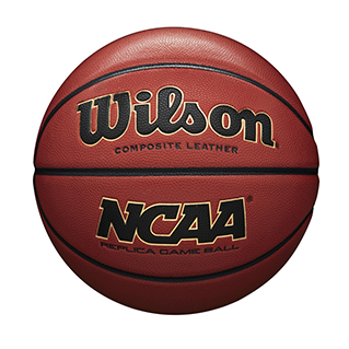 closeup of an NCAA Replica basketball