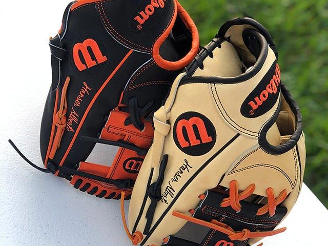 Orioles custom gloves