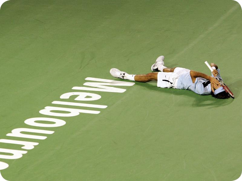 Roger Federer in Grand Slam #10