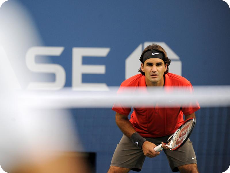 Roger Federer in Grand Slam #13