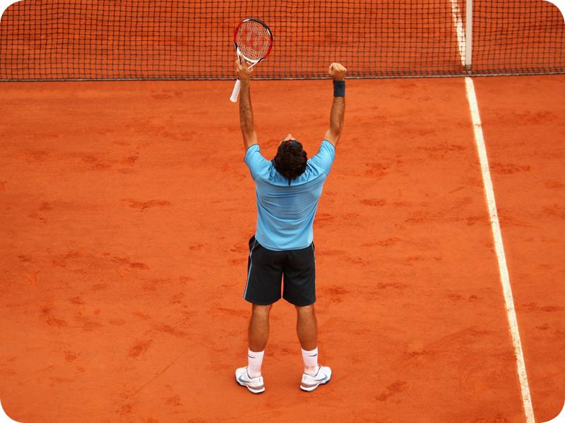 Roger Federer in Grand Slam #14