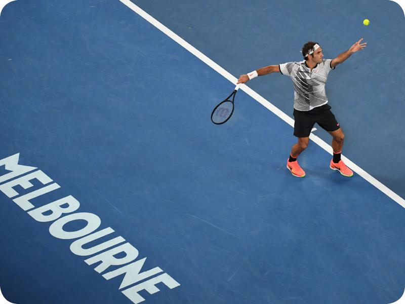 Roger Federer in Grand Slam #18