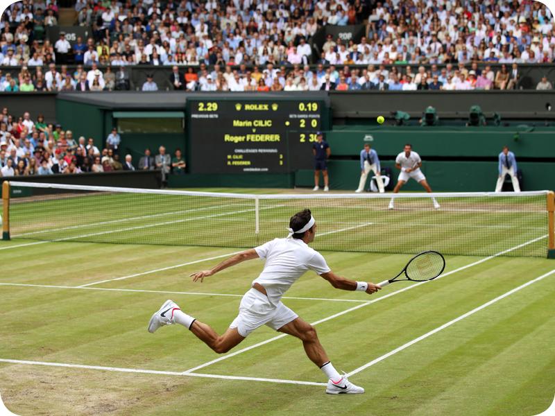 Roger Federer in Grand Slam #19