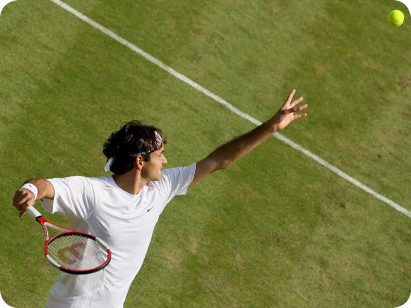 Roger Federer in Grand Slam #8