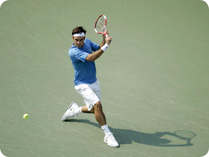 Roger Federer in Grand Slam #9