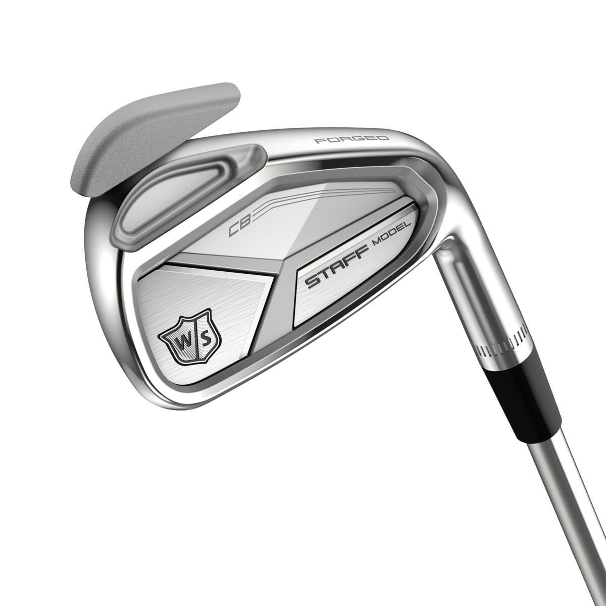 close-up of Staff Model CB Irons club face